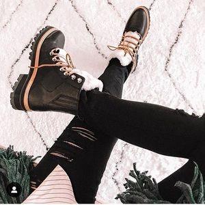 Marc Fisher Izzie hiking boots black 8